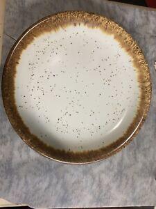 "Vintage USA Pottery Brown Drip Glaze Salad/Dessert Plate 7 1/2"" McCoy Hull"