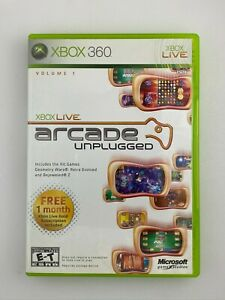 Xbox Live Arcade Unplugged Volume 1 - Xbox 360 Game - Tested
