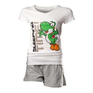 8718526020366 St300919ntn l Super notte grigio da bianco Yoshi grande Mario Bros Shortama Set PSP7COn