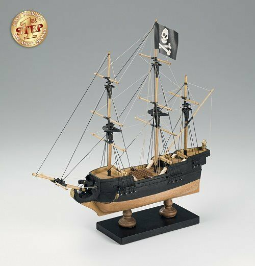 Amati Pirate Ship 1st Step 600 01 Wooden Model Boat Kit Ideal Beginners Model