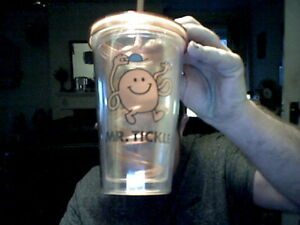 Image Is Loading MR TICKLE MEN TUMBLER WITH STRAW IDEAL