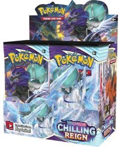 Chilling Reign Sword & Shield Booster Box Pokemon Sealed Presale Ship Jun 18th