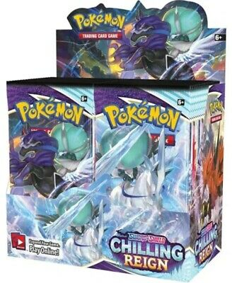 Chilling Reign Sword & Shield Booster Box Pokemon Sealed Presale Ship Jun 18th