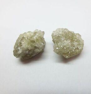 16.49 Carati Uncut Naturale Grezzo Diamanti Paio