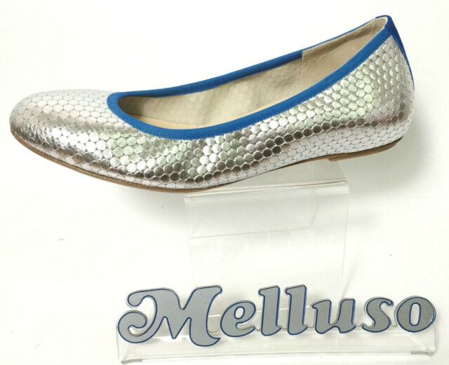 Argento Donna Ballerine Scarpe Pelle Melluso Color tacco 1cm w1qFXxS