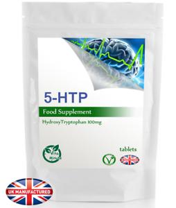 High-Potency-5-HTP-100mg-100-Tablets-Anxiety-Seratonin-Depression-UK-V