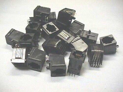 20 RJ12 PCB Mount Modular Jacks