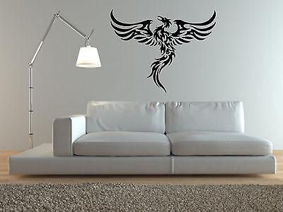 Phoenix Rising Wall Art Sticker Mystical Animal Bird Decal Vinyl Mural WA198