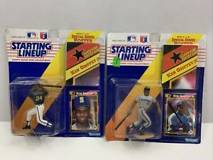 1992 Ken Griffey Jr Starting Lineup SLU Figure, With Card and Poster Lot of 2