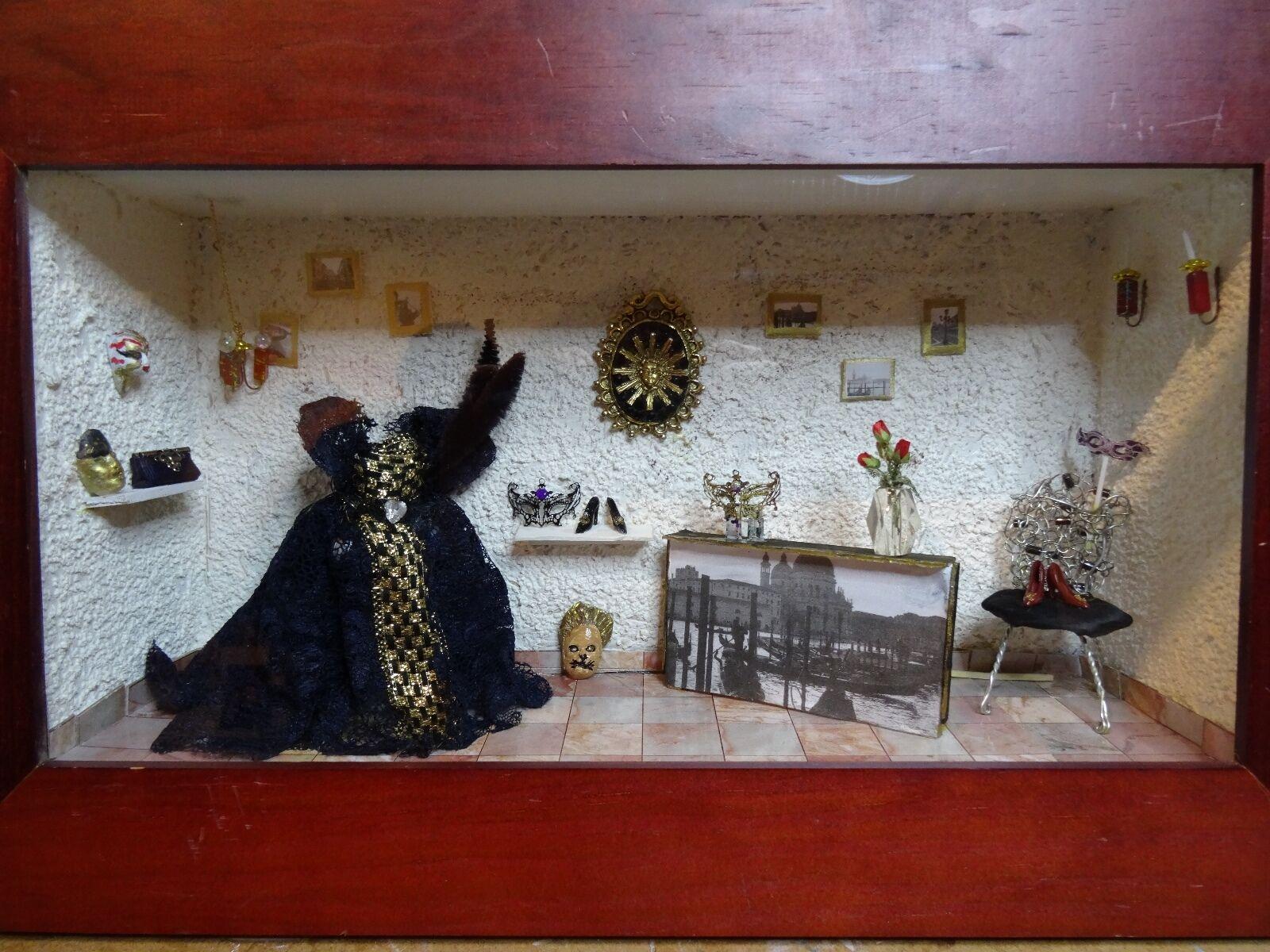 ventas en linea Vitrine miniature miniature miniature 40x35 cms Venise Karago  la red entera más baja