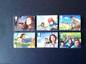 GB-QE2-2007-CENTENARY-OF-SCOUTING-FULL-SET-VERY-FINE-USED-AS-SCAN