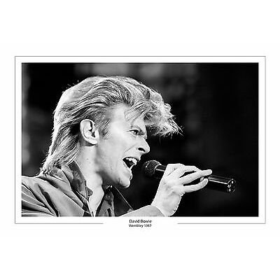 DAVID BOWIE WEMBLEY 1987  A4 PRINT PHOTO  MUSIC GIFT FOR HIM