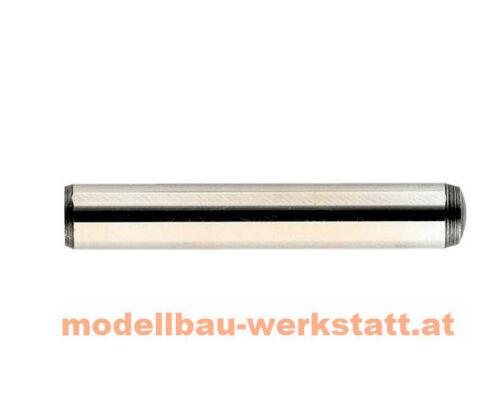 10x Stahl Zylinderstifte 2,5 x 18 mm DIN6325 m6 Passstifte gehärtet