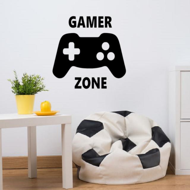 Wandtattoo Gamer Wandaufkleber Wandsticker Xbox Spieler Zocker Ps4 Jungs Junge Ebay