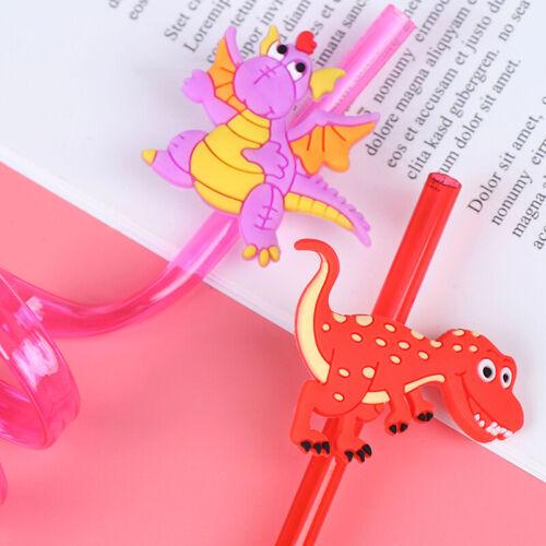 8pcs Dinosaur Plastic Drinking Straws Bar Straws for Kids Birthday Party Decyu