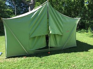 Coleman 8490 Canvas tent American Heritage 12 X 9 Vintage Large Camping Family