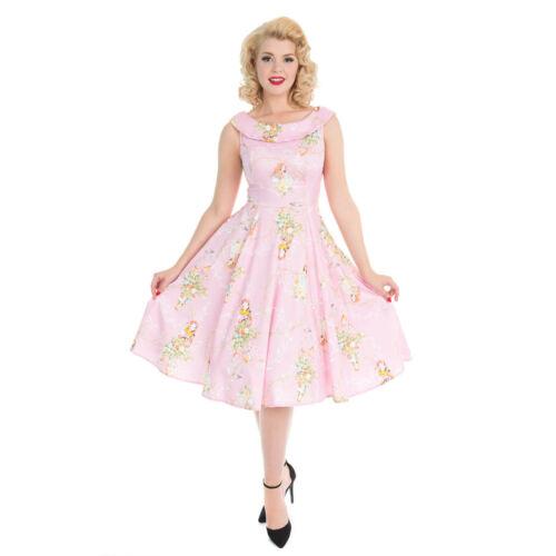 Jahre Prinzessin Hellrosa 1950er Fee Retro amp; Hearts Roses London wH4qnax8T
