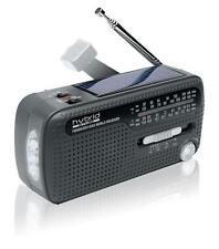 Muse MH-07DS tragbares Kurbel-Radio, Weltempfänger, Taschenlampe und Solar-Lader