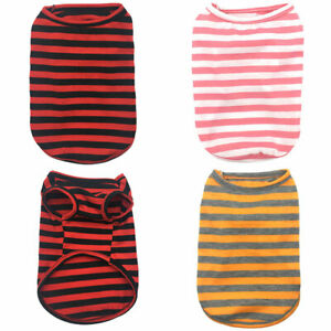 Summer-Pet-Dog-Clothes-Vest-Striped-T-Shirt-Sleeveless-Cotton-Small-Cat-Puppy-US
