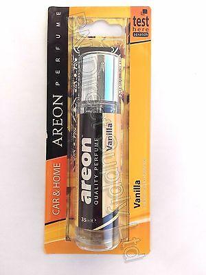 Areon Calidad AutoHome Perfume cartón Ambientador Vainilla 35ML * Nuevo *   eBay