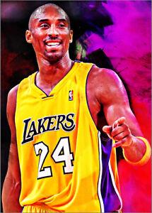 2021-Kobe-Bryant-Los-Angeles-Lakers-1-25-Art-ACEO-Purple-Print-Card-By-Q