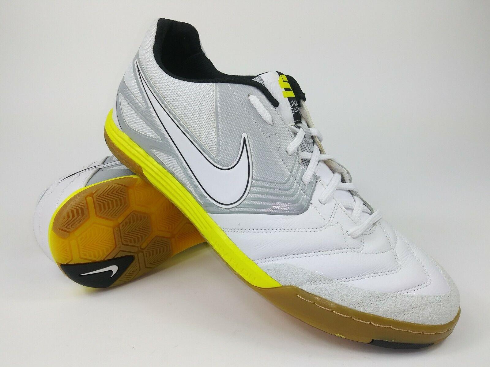 Nike Hombre Raro Nike 5 Lunar Gato 415124-117 blancoo Amarillo Interior Zapatos Talla 12