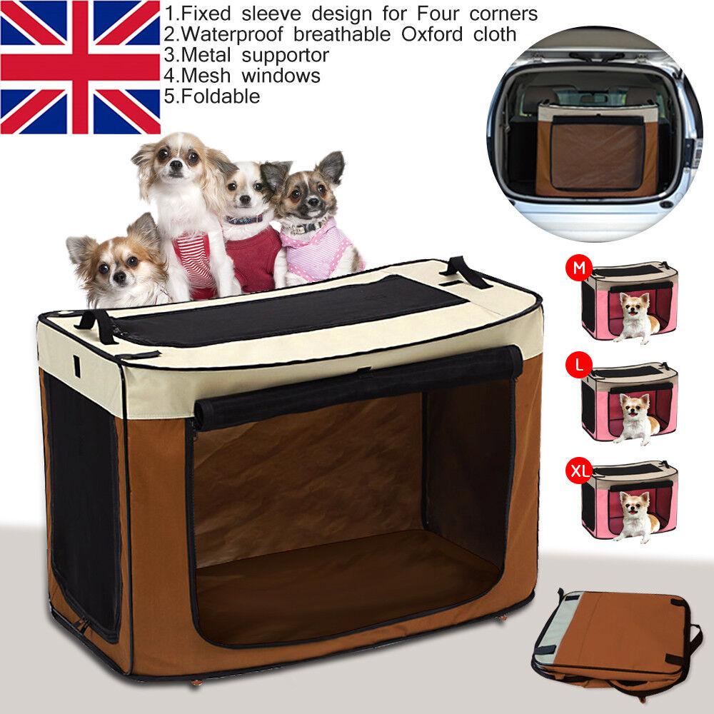 Portable Puppy Cat Dog Car Seat Folding Carrier Bag Travel Safety Foldable Box U