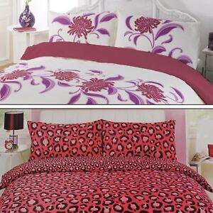 Image Is Loading Pink Duvet Cover Quilt Bedding Set Leopard Animal