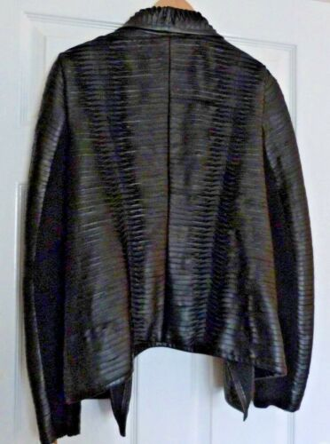 Barry Black halle Faux Leather Laser Jacket And Shreded Theodore Chelsea qwzZH