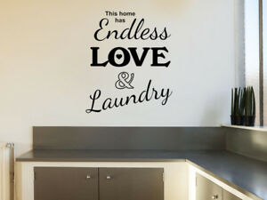 Endless Love Kitchen Wall Quote Wall Sticker Decal Modern Transfer Ebay
