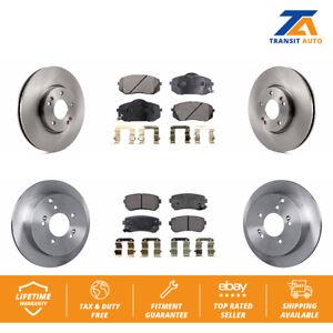 Front-Rear-Disc-Rotors-amp-Ceramic-Brake-Pads-Fits-Hyundai-Tucson-Kia-Sportage