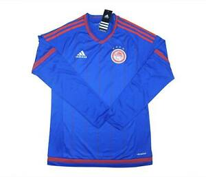Olympiakos 2015-16 Authentic Away Camicia L/S (Nuovo con Scatola) M SOCCER JERSEY