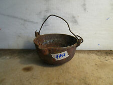 Antique Cast Iron Lead Pot for Melting