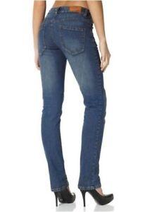 Details zu Arizona High Waist Jeans K Gr.18 20 NEU Damen Hose Blue Used Stretch Denim L30