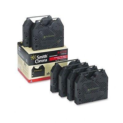 Smith Corona SD 400 Typewriter Ribbons SMC SD400 Cartridges 6 Pack