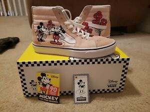 Vans-Disney-Womens-Sk8-Hi-Mickey-amp-Minnie-90th-Anniversary-Pink-Shoes-Size-7-1-2