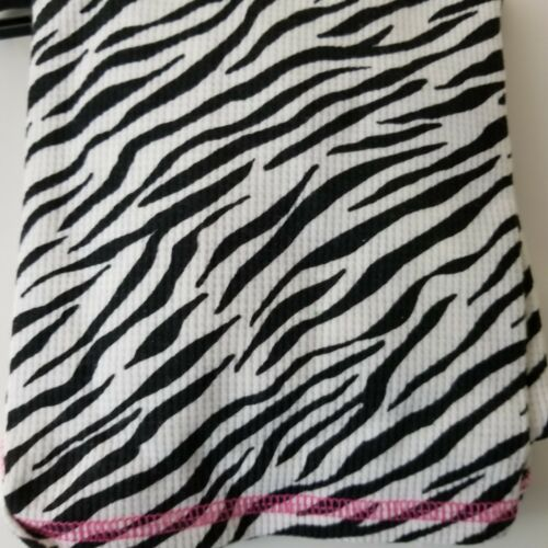 Cuddl Duds Girls 4T Thermal Long Sleeve Crew Long Pant Black White Striped
