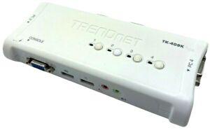 TRENDnet TK-409K 4-Port USB KVM Switch with Audio - TESTED w/ WARRANTY!!