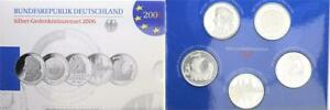 Germany Official Blister With 6 Piece Silver Commemorative Coins 2006 Pf