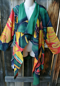 Wear Silk Painted Art Inspired To Jacket Dilemma Hand Seligman os Asymmetric wUqxO404f