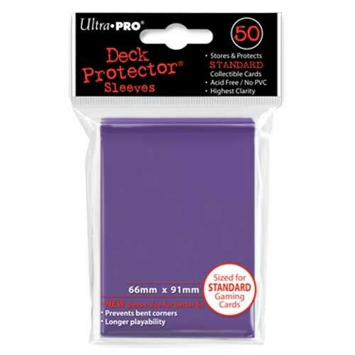 Purple Solid 50ct Ultra Pro Deck Protector Sleeves Pack