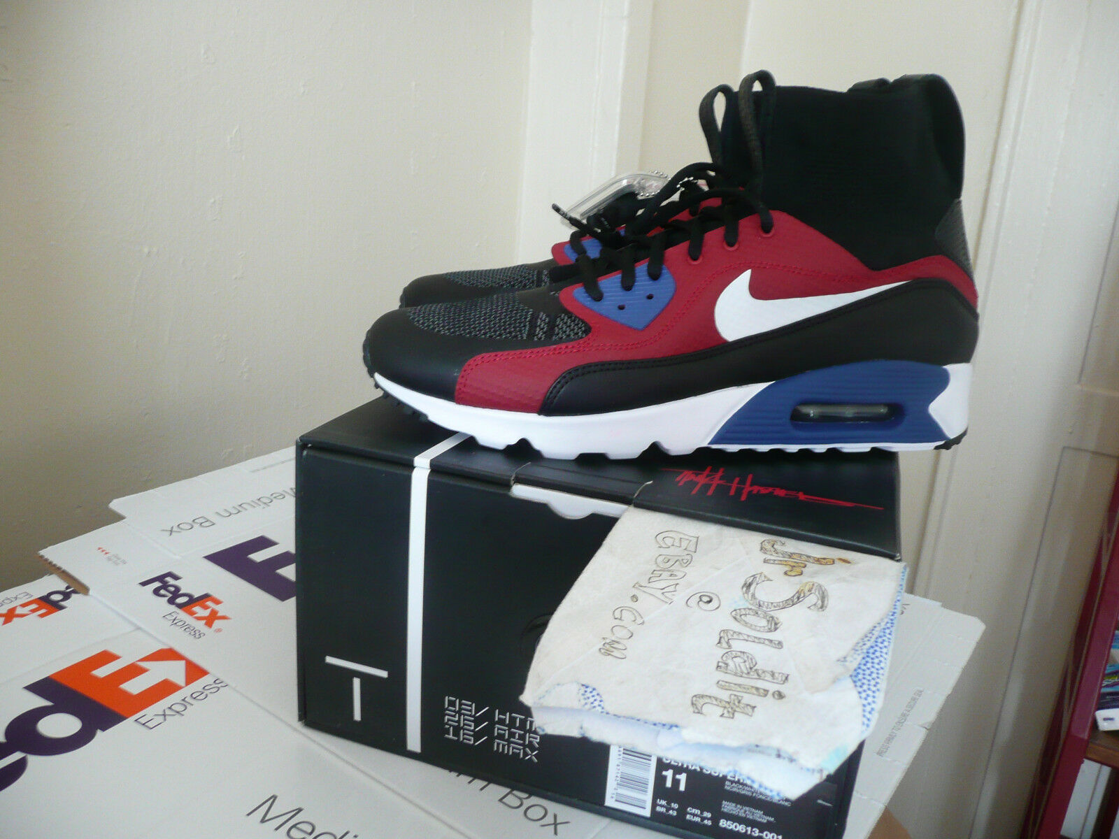 Tinker Hatfield x Nike Air Max 90 Ultra Superfly HTM, Size 11 (2016 AIR MAX DAY)