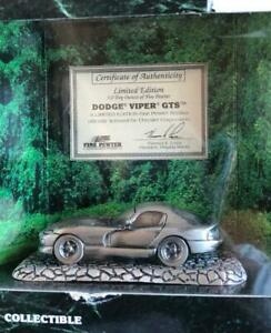 Johnny-Lightning-Dodge-Viper-GTS-Fine-Pewter-Collection-1999-LE-Paper-Weight