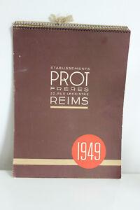 Calendario 1949.Dettagli Su Calendario 1949 Prot Fratelli Reims Costumi Modalita A Secolo Elegante Pubb