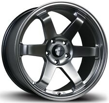 Avid1 AV06 17X8 Rims 5x100mm +35 Hyper Black Wheels Fits Corolla Celica Wrx Brz