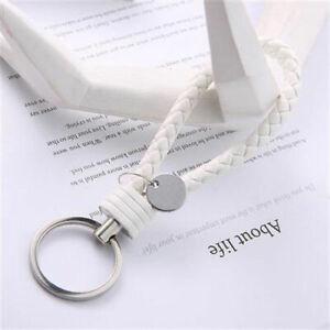 Braided-Faux-Leather-Strap-Keyring-Keychain-Car-Key-Chain-Ring-Key-Fob