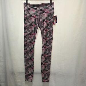 JoyLab-Womens-Leggings-Pants-Pink-Stretch-Garden-Leaves-Elastic-Waist-XS-New