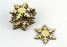Conjunto de 12x Navidad Madera Copo nieve Adornos/Manualidades Forma/Decoración