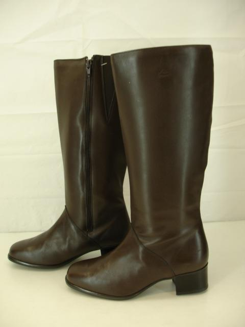 Womens 8.5 B M Regence Annie Brown Leather Boots knee high riding waterproof zip