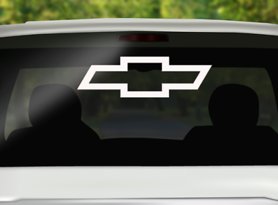 Chevrolet Truck Bow Tie Bed Stripe Vinyl Decal Made in USA Chevy Pickup 2 pc set
